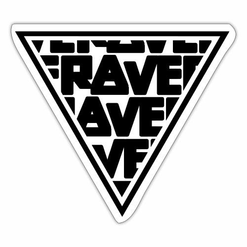 Rave MNML Minimal Logo Techno Events Symbol - Sticker