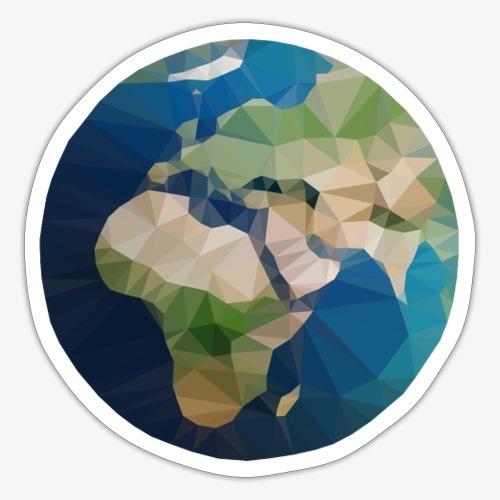 Polygon Erde - Sticker