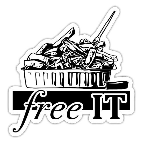 free it - Autocollant