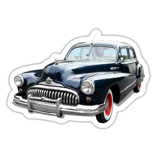 Classic Car. Buick zwart. - Sticker