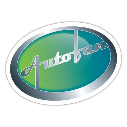 Autofan groen - Sticker