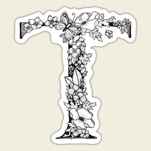 Buchstabe T - Sticker