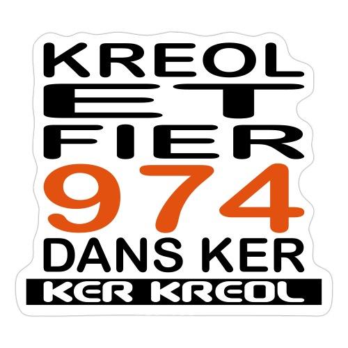 Kreol et Fier - 974 ker kreol - Autocollant