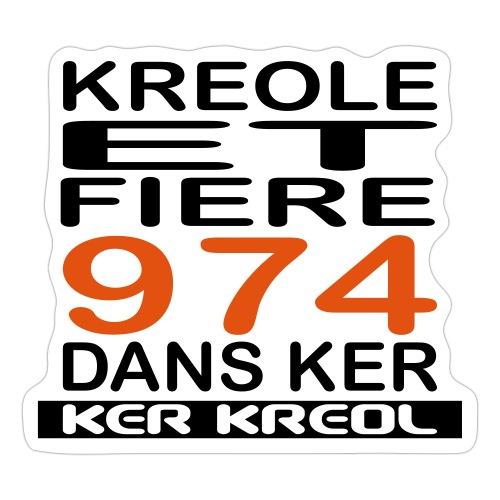 Kreole et Fiere - 974 ker kreol - Autocollant