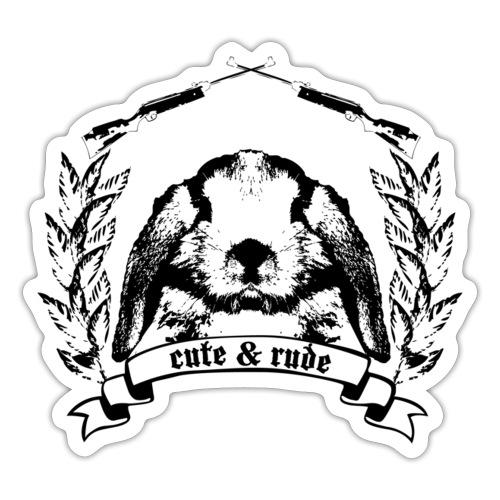 cute & rude hase kaninchen häschen bunny karnickel - Sticker