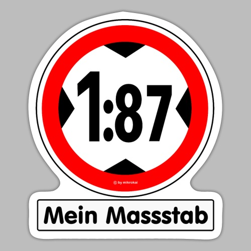 1:87 Mein Massstab - Sticker