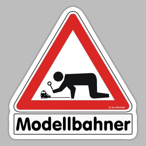 Warnschild Modellbahner E Lok - Sticker