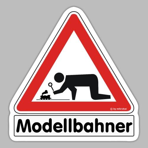 Warnschild Modellbahner Dampflok - Sticker