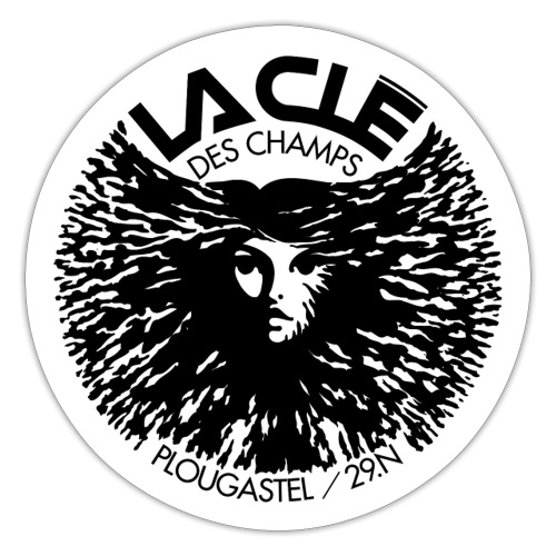 La Clé des Champs logo - Autocollant