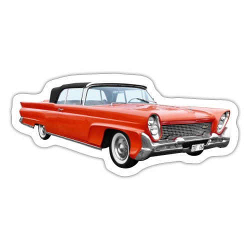 Red Classic Car - Sticker