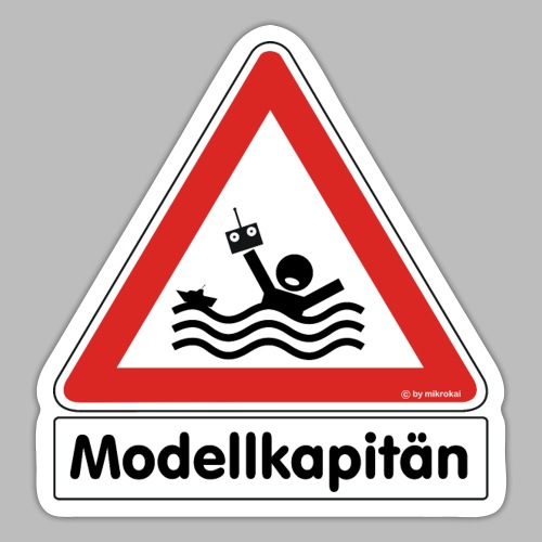 Warnschild Modellkapitän - Sticker
