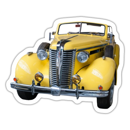 Gele klassieke auto1920 - Sticker
