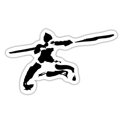 Kungfu stick fighter / ink - Sticker