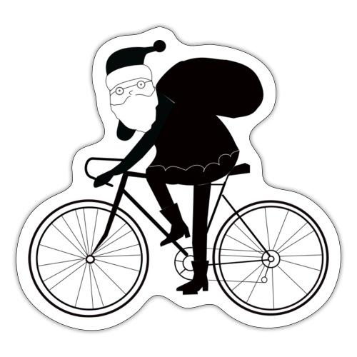 Santa on The Bike - Sticker