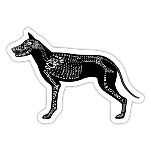 Dog skeleton - Sticker