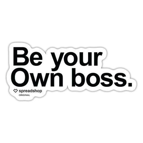 Boss in black - Sticker