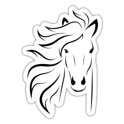 pferd silhouette - Sticker