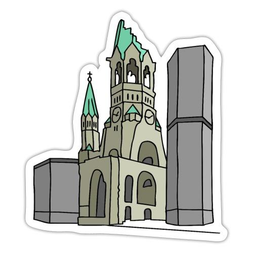 Chiesa dell'Imperatore Guglielmo Berlin c - Adesivo