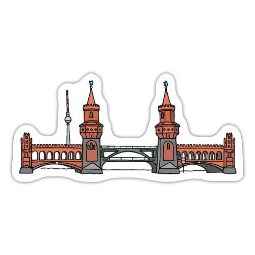 Oberbaumbrücke w Berlinie c - Naklejka