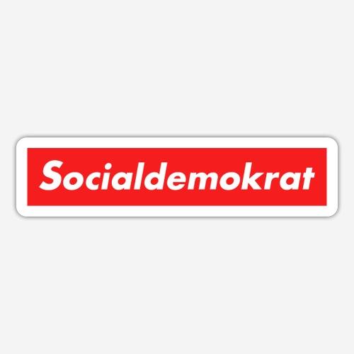 Socialdemokrat - Klistermärke
