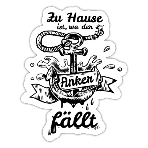 Anker Heimat Hafen - Sticker