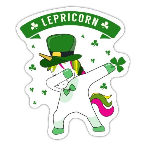Lepricorn - St. patricks Day Unicorn dab pose - Sticker