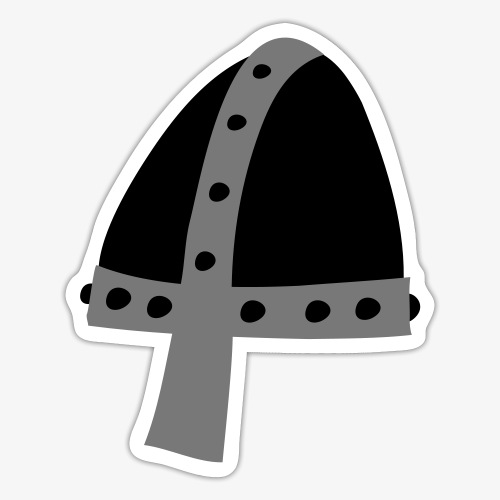 Helmet Medieval Hard Hat - Sticker