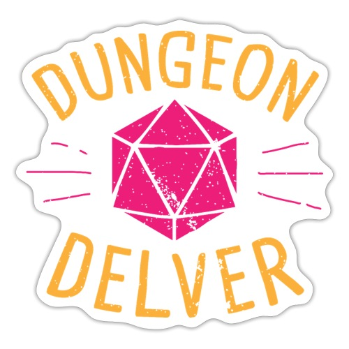 Dungeon Delver yellow pink - Sticker