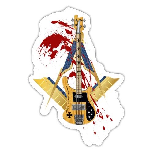 Heavy Masons Rickenbacker png - Klistermärke