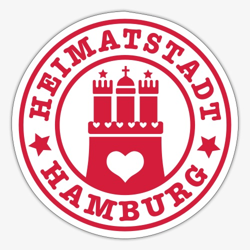 Hamburg Heimatstadt Wappen 1c Herz - Sticker