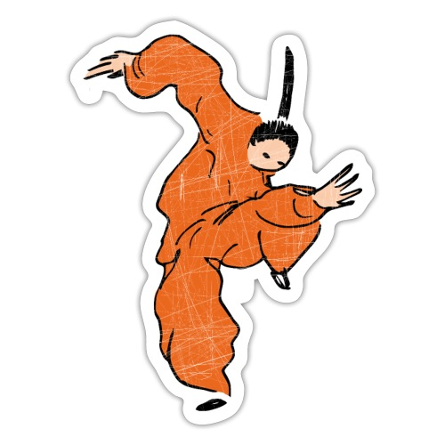 Kung Fu Comic Fighter / Vintage Look - Sticker