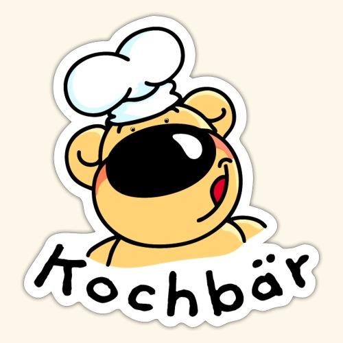 Kochbär mit Kochmütze - Sticker