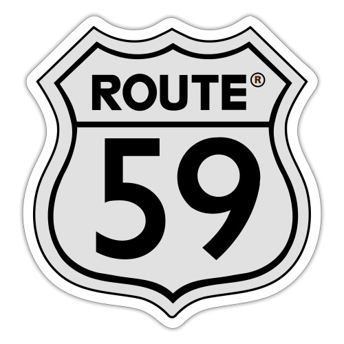 Route 59 zwart wit - Sticker