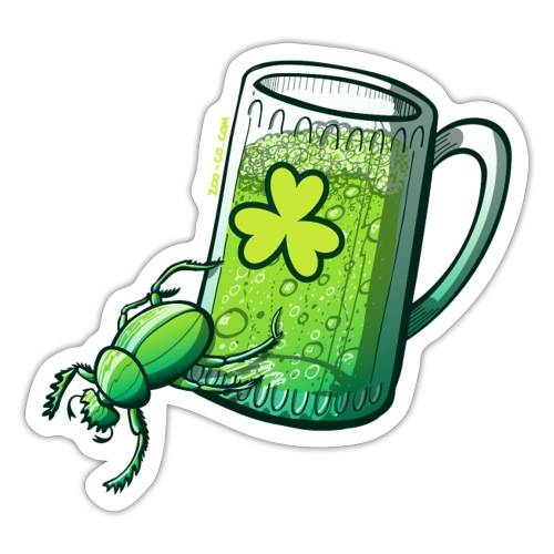 Saint Patrick's Day Beetle - Sticker