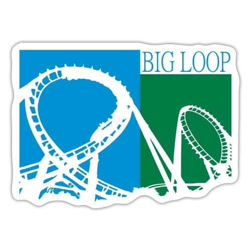 Big Loop Coaster Fan Logo - Sticker