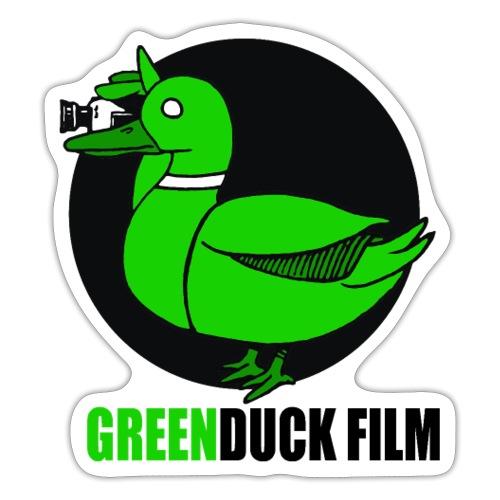 Greenduck Film Logo w. black letters - Sticker