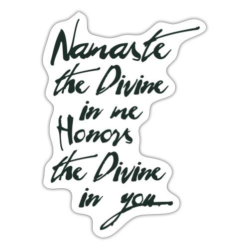 Namaste *Yogigruss* das Licht in der Yogapraxis - Sticker