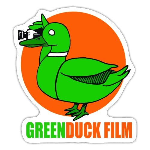 Greenduck Film Orange Sun Logo - Sticker