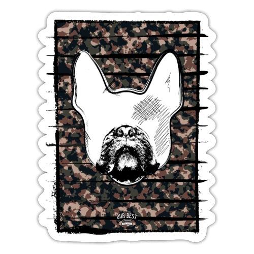 Französische Bulldogge Camouflage Silhouette - Sticker