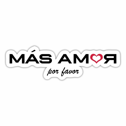 MasAmorRED - Sticker