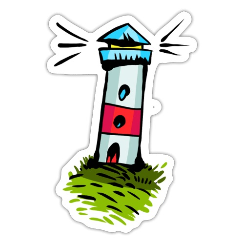 Leuchtturm Ahoi Illustration - Sticker