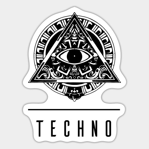 the EYE of TECHNO - Sticker