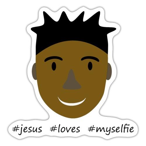 jesus loves myselfie - Sticker