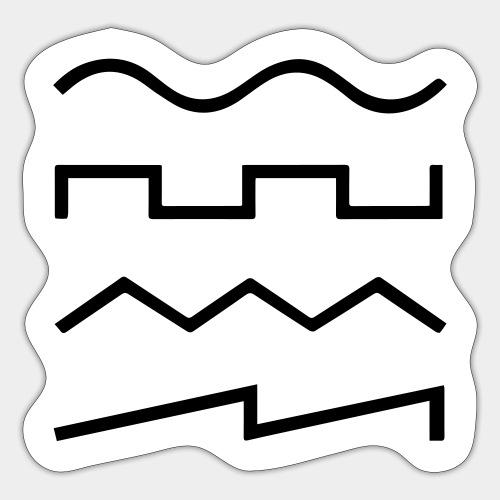 SIN - SQR - TRI - SAW - Sticker