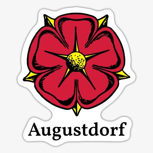 Lippische Rose mit Unterschrift Augustdorf - Sticker