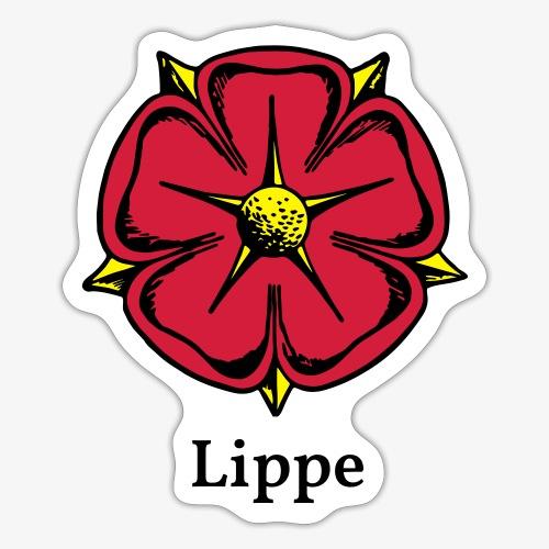 Lippische Rose mit Unterschrift Lippe - Sticker
