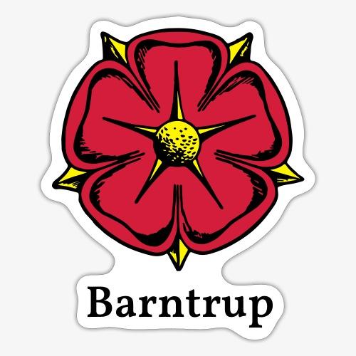 Lippische Rose mit Unterschrift Barntrup - Sticker