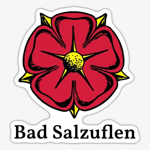 Lippische Rose mit Unterschrift Bad Salzuflen - Sticker