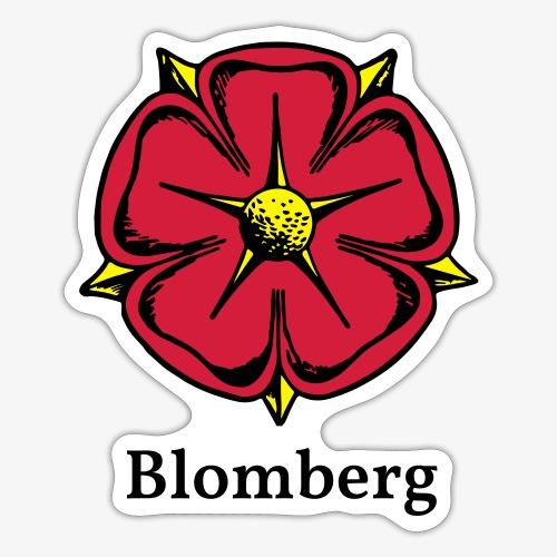 Lippische Rose mit Unterschrift Blomberg - Sticker