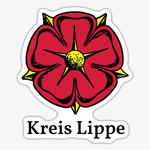 Lippische Rose mit Unterschrift Kreis Lippe - Sticker